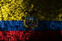 Ecuador grunge background flag, old flag. Ecuador grunge background flag. Old flag royalty free stock image