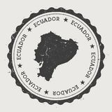 Ecuador hipster round rubber stamp with country. Ecuador hipster round rubber stamp with country map. Vintage passport stamp with circular text and stars Royalty Free Stock Photo