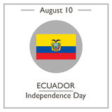 Ecuador Independence Day, August 10. Vector illustration for you design, card, banner, poster and calendar royalty free illustration