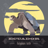 Ecuador landmarks. Retro styled image Royalty Free Stock Photography
