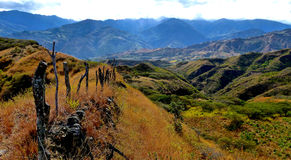 Ecuador Landscape Mountains. Typical landscape in the Andes. Valley of Longevity, Vilcabamba, Ecuador royalty free stock image