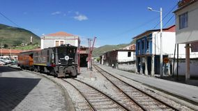 Alausi city station Ecuador. Ecuador May 2018 This is the train station where start the Devil Nose ride, a trip down the rocky slopes of the Andes through stock video footage