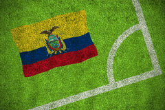 Ecuador national flag Stock Photos