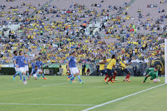 Ecuador  national football team attacking during Copa America Ce Stock Photo