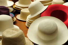 Ecuador, Panama Hats Stock Photo