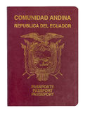 Ecuador Passport. Isolated on white Stock Image
