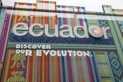 Ecuador paviljong Arkivbild