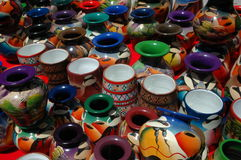 Ecuador pottery. Pottery at the market in Ecuador Royalty Free Stock Images