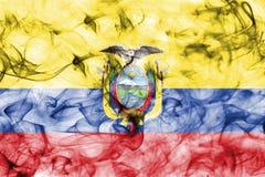 Ecuador smoke flag isolated on a white background. Ecuador smoke flag isolated on a white background stock image