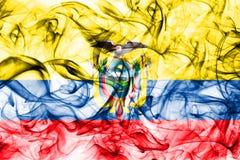 Ecuador smoke flag on a white background.  stock photos