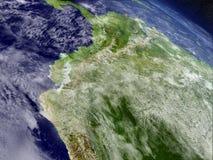 Ecuador from space Stock Photos