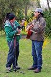 Ecuador street musicians Stock Photography