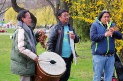 Ecuador street musicians Royalty Free Stock Image