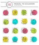 Ecuador symbols Vector Royalty Free Stock Photo