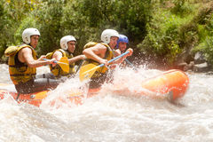 Ecuador Whitewater River Rafting Stock Photo