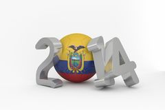 Ecuador world cup 2014 Royalty Free Stock Image