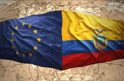 Ecuador y unión europea ilustración del vector