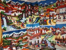 Ecuadorian Art. Beatiful close up of Ecuadorian Art in the Andes Stock Photo