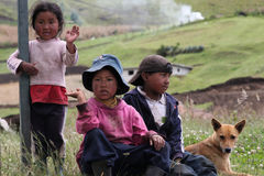Ecuadorian children stock images