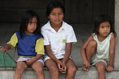Ecuadorian children Royalty Free Stock Image