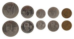 Ecuadorian Coins Isolated on White Stock Image