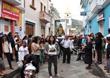 Ecuadorian Festival Goers Royalty Free Stock Image