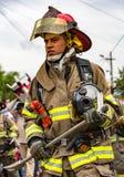 Ecuadorian Firemen on Parade Stock Photography
