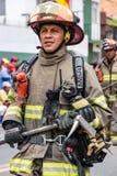 Ecuadorian Firemen on Parade Royalty Free Stock Images