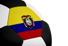 Ecuadorian Flag - Football Royalty Free Stock Image