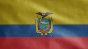 Free Ecuadorian Flag Waving In The Wind. Close Up Of Ecuador Banner Blowing Soft Silk Stock Image - 216033241