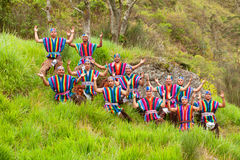 Ecuadorian Folkloric Group Stock Photo