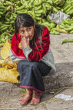 Ecuadorian girl at Guamote Market. Ecuador Royalty Free Stock Photography