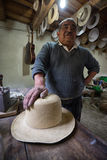 Ecuadorian hat maker Royalty Free Stock Images