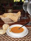Ecuadorian hot sauce and bread of yucca Royalty Free Stock Image