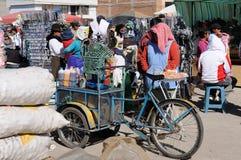 Ecuadorian ice-cream seller Stock Photos