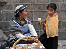Ecuadorian Mother and Daughter Royalty Free Stock Images