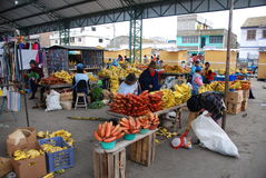 Ecuadorian people in a local market Stock Photos