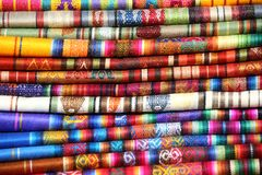 Ecuadorian (Peruvian) traditional fabrics Royalty Free Stock Images