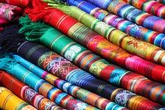 Ecuadorian (Peruvian) traditional fabrics Stock Photography