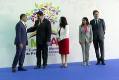 Ecuadorian President Rafael Correa and Venezuelan President Nicolas Maduro Royalty Free Stock Photo