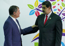 Ecuadorian President Rafael Correa and Venezuelan President Nicolas Maduro Royalty Free Stock Photography