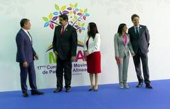 Ecuadorian President Rafael Correa and Venezuelan President Nicolas Maduro Stock Photos