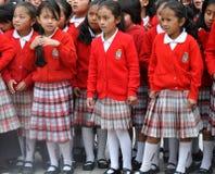 Ecuadorian School Girls. On an outing Stock Photos