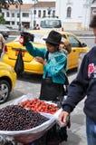 Ecuadorian selling fruits, Cuenca, Ecuador Stock Image