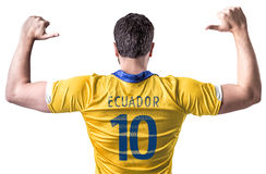 Ecuadorian soccer player player on white background Royalty Free Stock Photos