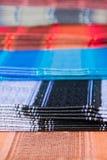 Ecuadorian traditional fabrics, Otavalo market Stock Image
