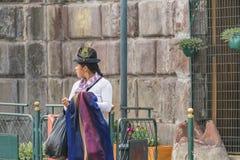 Ecuadorian Traditonal Costumed Woman Stock Images