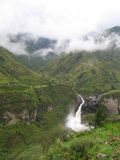 Ecuadorian Waterfall. Waterfall in the cloud forest near Banos, Ecuador Royalty Free Stock Image