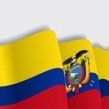 Ecuadorian waving Flag. Vector illustration. Stock Images
