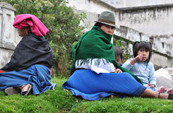 Ecuadorian Women With Children Royalty Free Stock Images